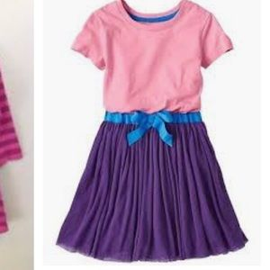 Hanna Andersson 130 Whoosh Dress purple pink